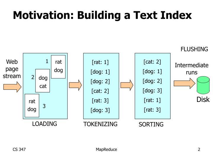 Motivation: Building a Text Index