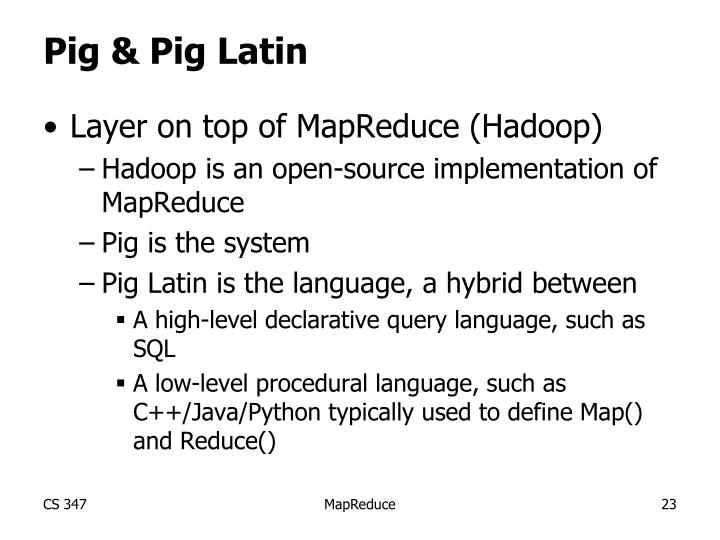 Pig & Pig Latin