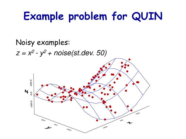 Example problem for QUIN