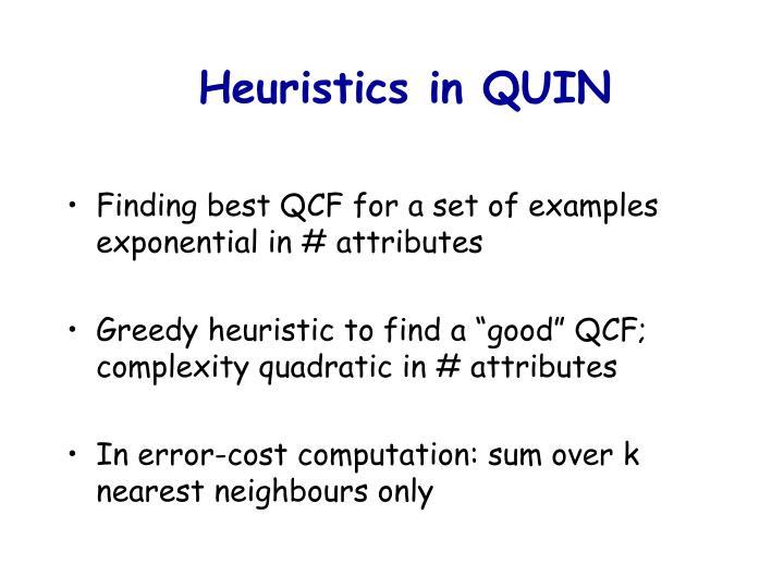 Heuristics in QUIN