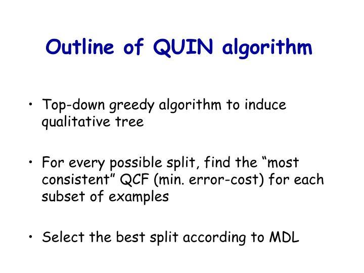 Outline of QUIN algorithm
