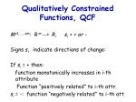qualitatively constrained functions qcf