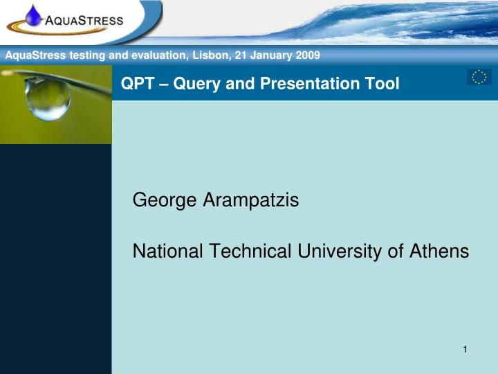 Qpt query and presentation tool
