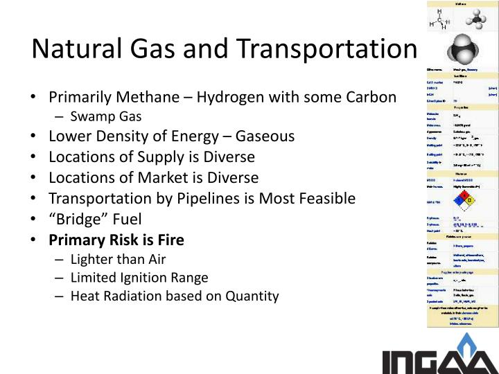 Natural gas and transportation