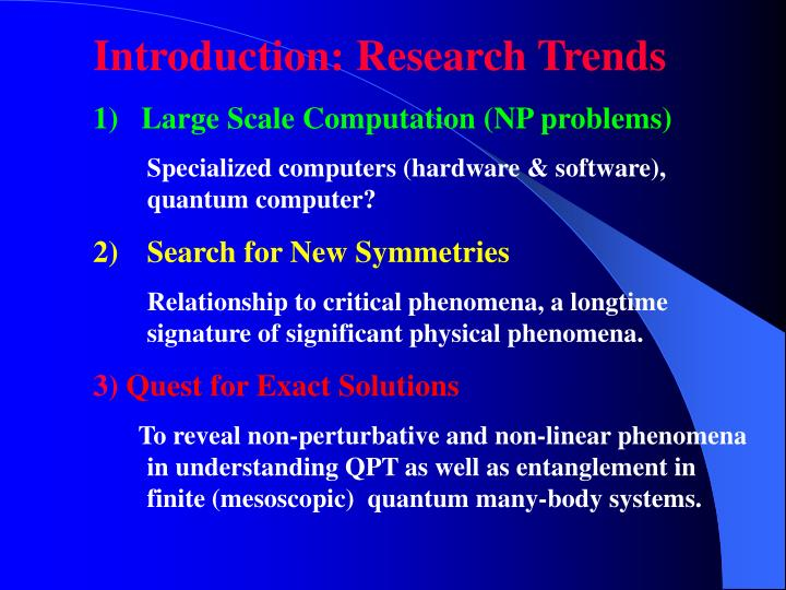 Introduction: Research Trends