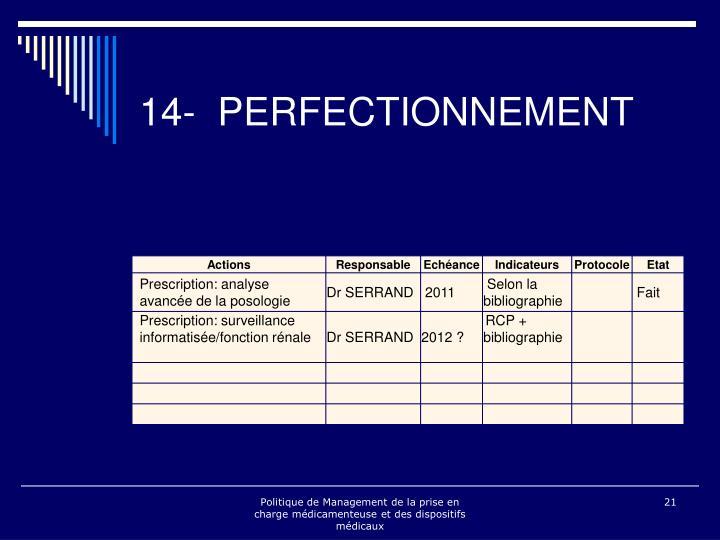 14- PERFECTIONNEMENT