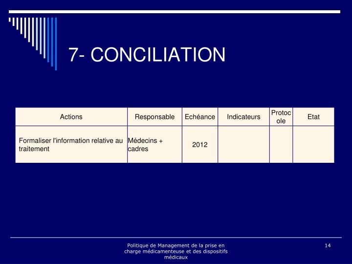 7- CONCILIATION