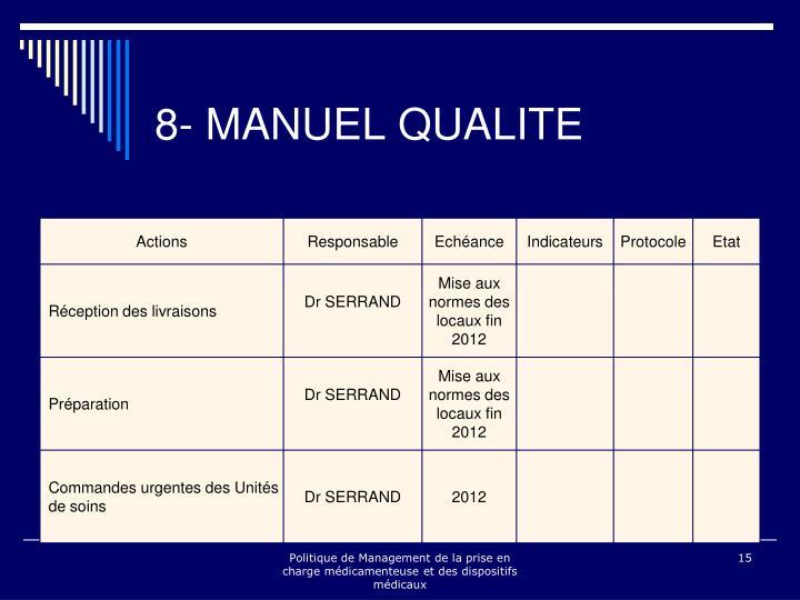 8- MANUEL QUALITE