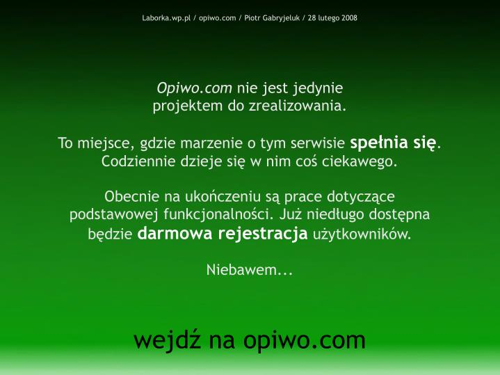 Laborka.wp.pl / opiwo.com / Piotr Gabryjeluk / 28 lutego 2008