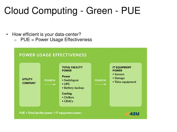 Cloud Computing - Green - PUE
