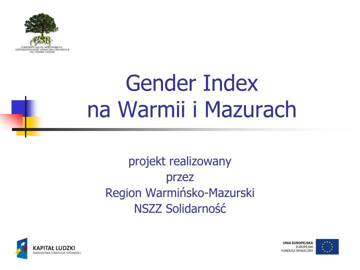 gender index na warmii i mazurach