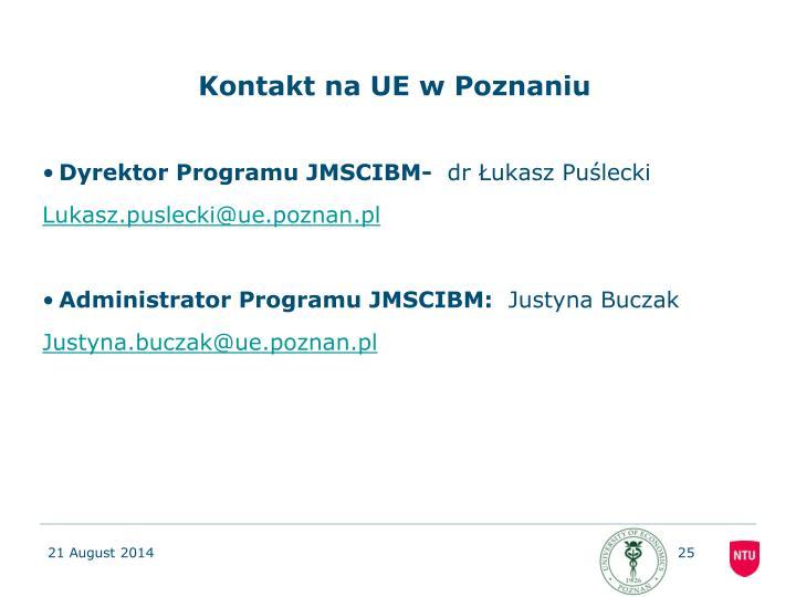 Kontakt na UE w Poznaniu