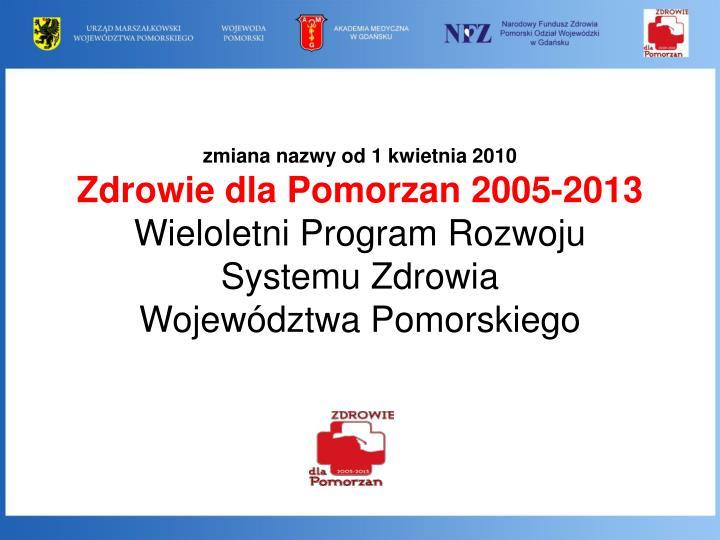 zmiana nazwy od 1 kwietnia 2010
