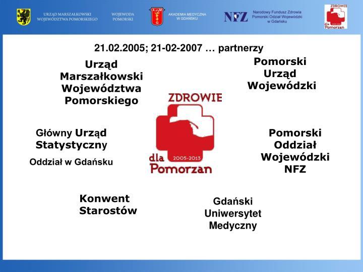 21.02.2005; 21-02-2007 … partnerzy
