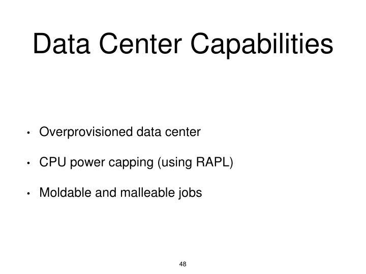 Data Center Capabilities