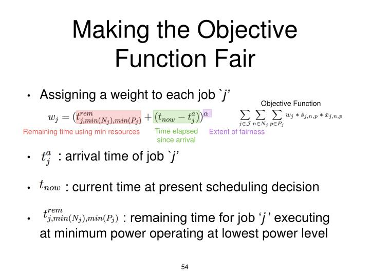 Making the Objective Function Fair