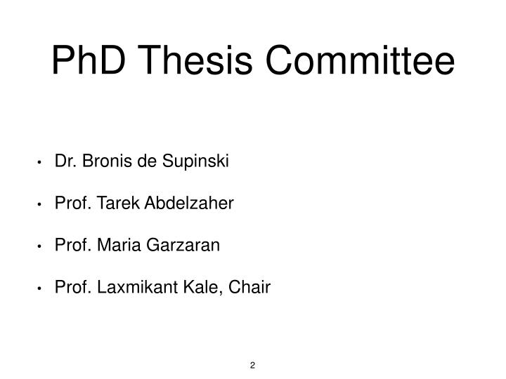 PhD Thesis Committee