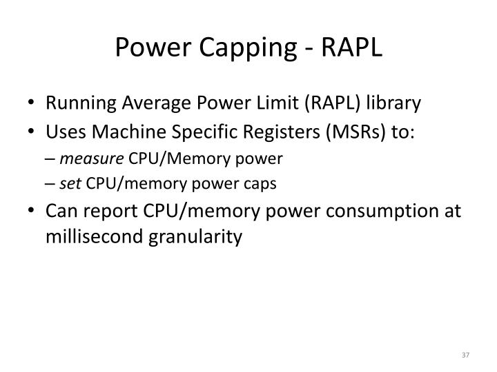 Power Capping - RAPL