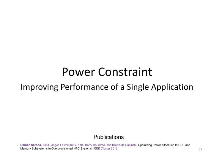 Power Constraint