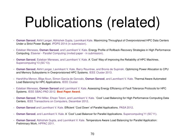Publications (related)