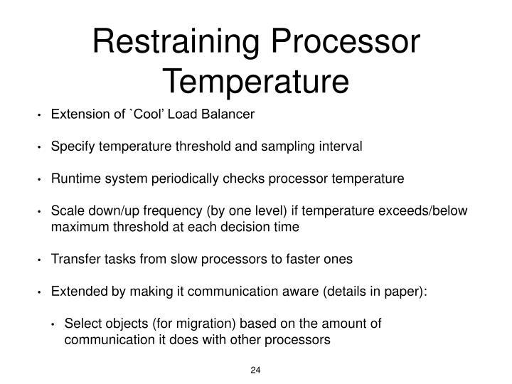 Restraining Processor Temperature