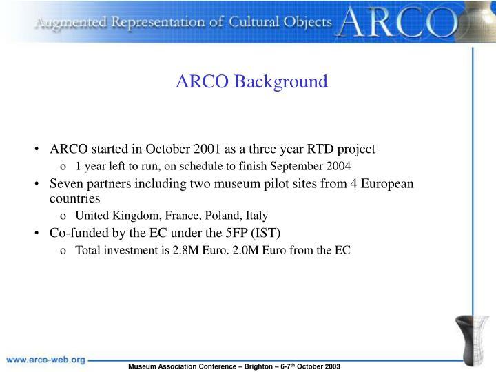 ARCO Background