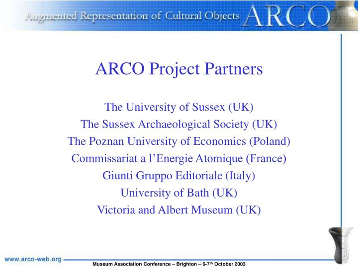 ARCO Project Partners