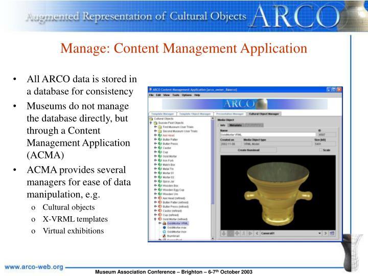 Manage: Content Management Application