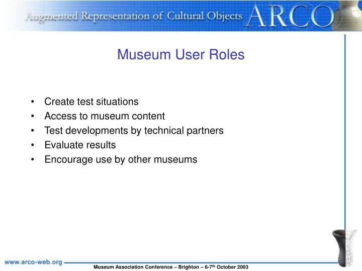 Museum User Roles