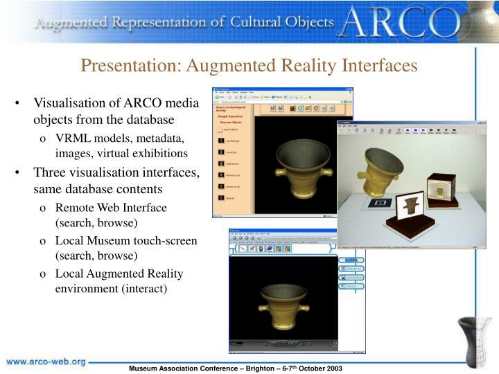 Presentation: Augmented Reality Interfaces