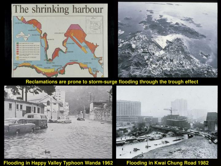 Reclamations are prone to storm-surge flooding through the trough effect