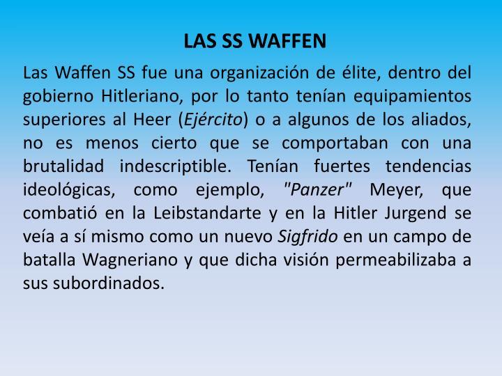 LAS SS WAFFEN