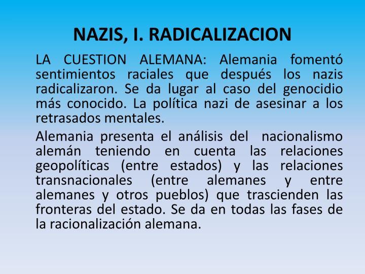 NAZIS, I. RADICALIZACION