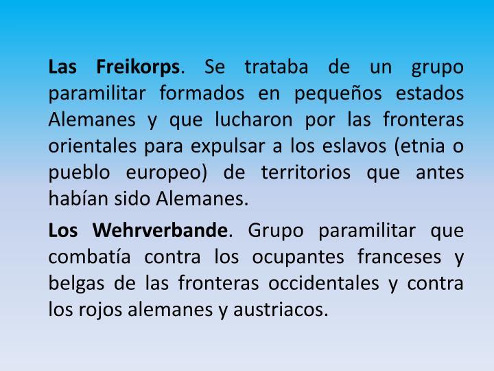 Las Freikorps