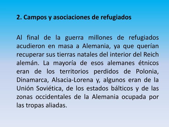 2. Campos y asociaciones de refugiados