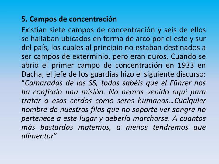 5. Campos de concentración