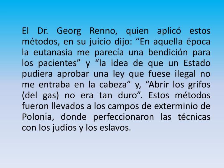 El Dr. Georg