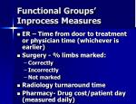 functional groups inprocess measures
