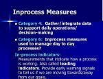 inprocess measures