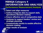 mbnqa category 4 information and analysis performance measurement analysis