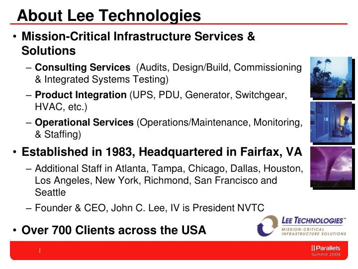 About Lee Technologies