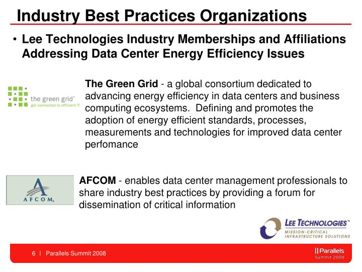 Industry Best Practices Organizations