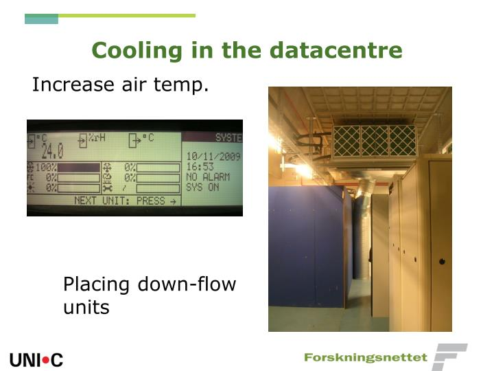 Cooling in the datacentre