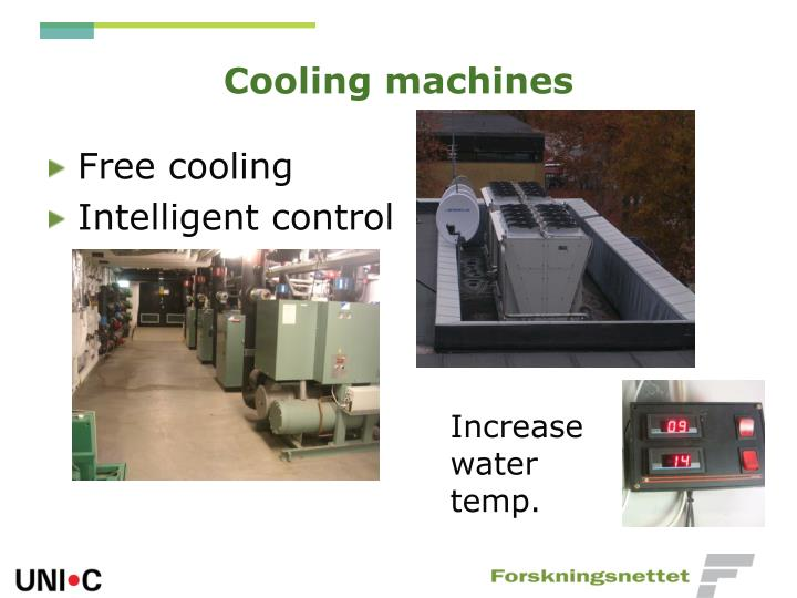 Cooling machines