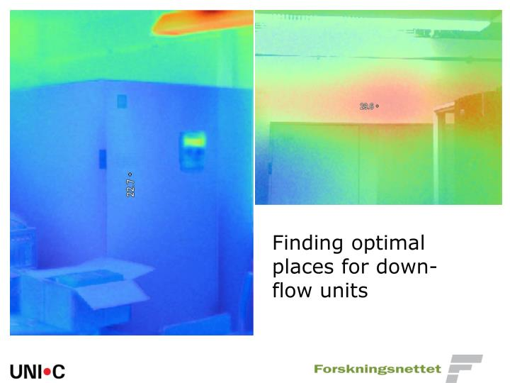 Finding optimal places for down-flow units