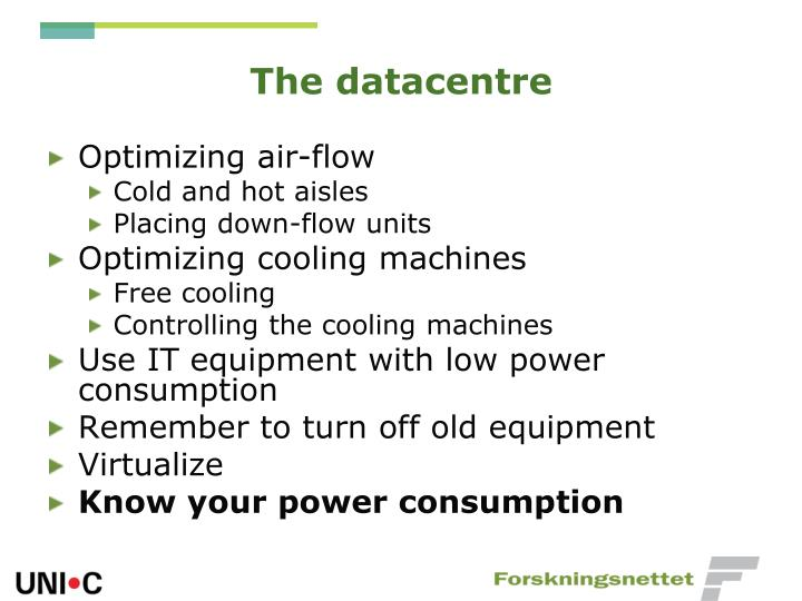 The datacentre