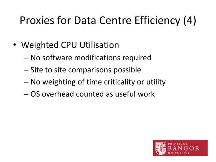 Proxies for Data Centre Efficiency (4)