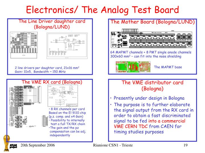 Electronics/ The Analog Test Board