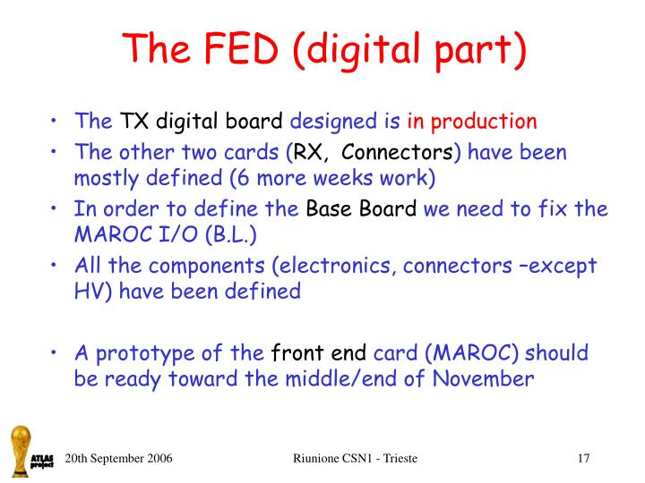 The FED (digital part)