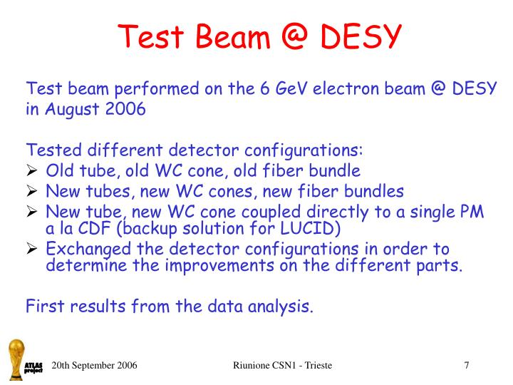 Test Beam @ DESY